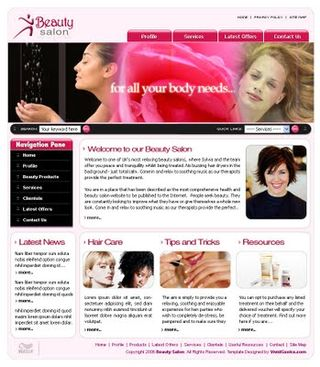 Salonwebsite